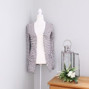 Joie Brown Striped Button Up Cardigan SZ XS